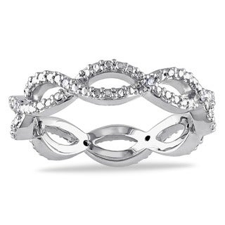 Miadora 10k White Gold Diamond Accent Braided Ring (G-H, I1-I2)