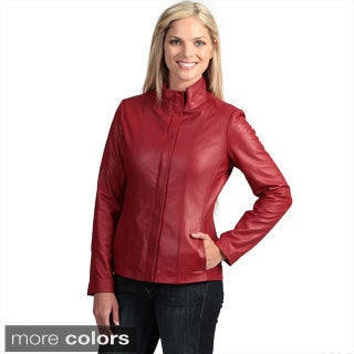 Women's Collezione 'Italia' Lambskin Jacket
