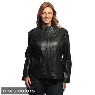 Collezione Italia Women's Plus Size 'Italia' Lambskin Jacket