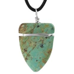 Tressa Sterling Silver Genuine Turquoise Arrowhead Necklace
