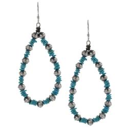 Tressa Sterling Silver Genuine Turquoise Dangle Earrings