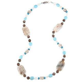 Zoe B Sterling Silver Multi-gemstone 'Southwest Desert' Necklace