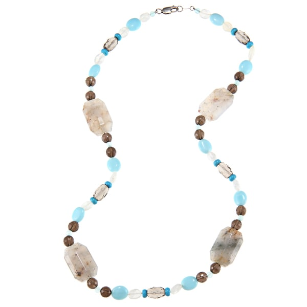 Zoe B Sterling Silver Multi-gemstone 'Southwest Desert' Necklace