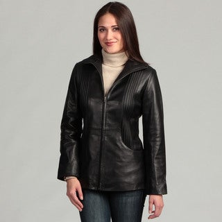 Women's Collezione Italia Women's Leather Jacket- Plus Size