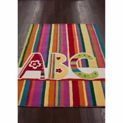 nuLOOM Handmade Kids ABC Multi Wool Rug (5' x 7')