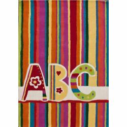nuLOOM Handmade Kids ABC Multi Wool Rug (5' x 7')
