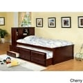 Three-drawer Trundle Set Bookcase Bed