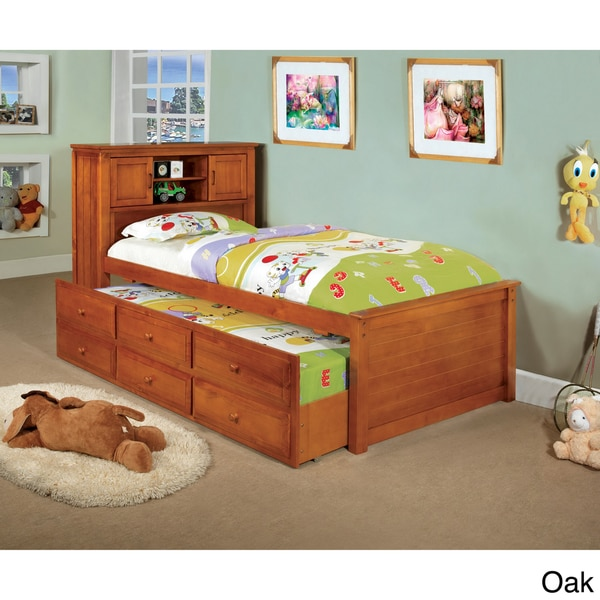 Furniture of America Three-drawer Trundle Set Bookcase Bed