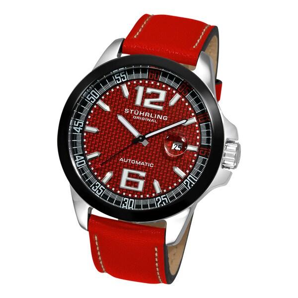 Stuhrling Original Men's Concorso GT Leather Strap Watch