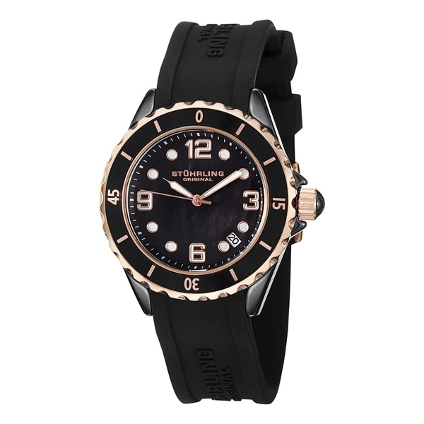 Stuhrling Original Women's Black Ceramic Watch