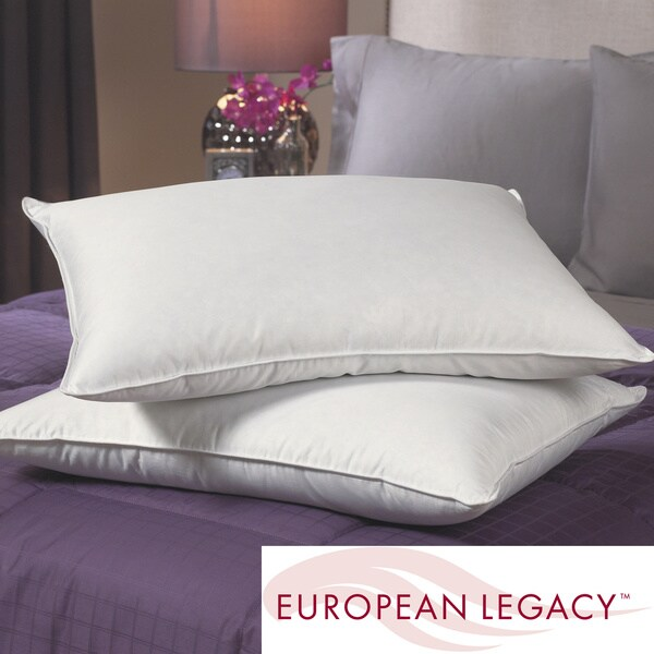 European Legacy 400 Thread Count Core Support Down Pillows (Set of 2)