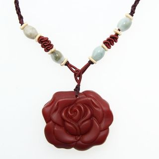 Rose Agate Pendant with Necklace (China)