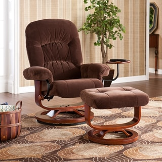 Wilkins Brown Recliner/ Ottoman Set