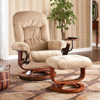 Wilkins Tan Recliner/ Ottoman Set