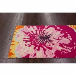 nuLOOM Handmade Kids Splash Multi Wool Rug (5' x 8')