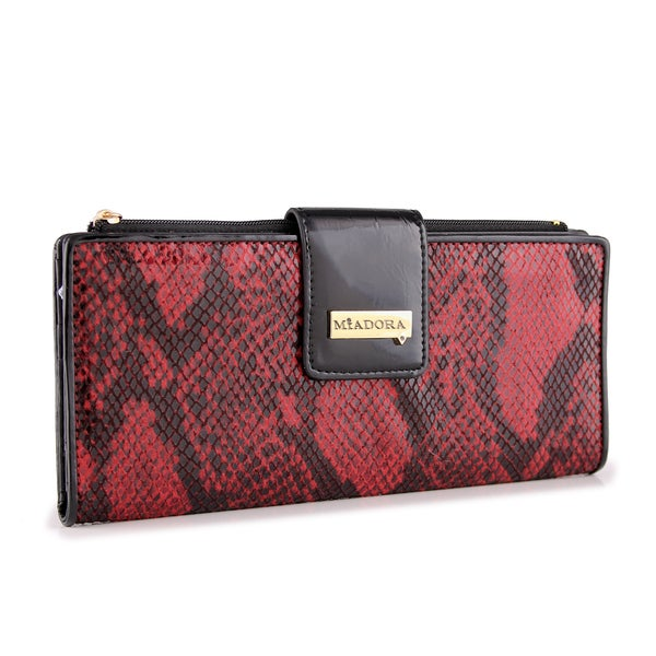 M by Miadora Catherine Snake-Print Wallet