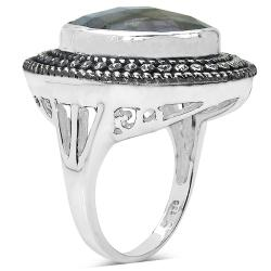 Malaika Sterling Silver Labradorite Ring