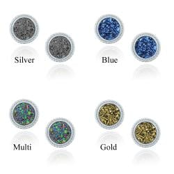 Glitzy Rocks Sterling Silver and Druzy Round Stud Earrings