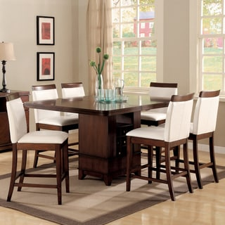 Lancester 7-piece Dining Set with Wood Rail Chairs