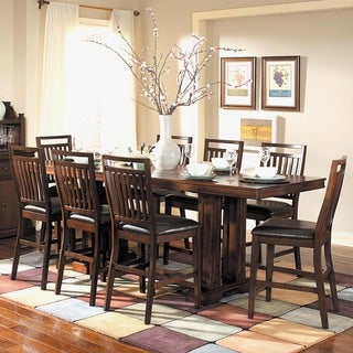 TRIBECCA HOME Harper Warm Cherry 9-piece Counter Height Dining Set