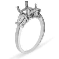 14k White Gold 1/5ct TDW Tapered Baguette Diamond Semi-mount Ring (G-H, SI1/SI2)