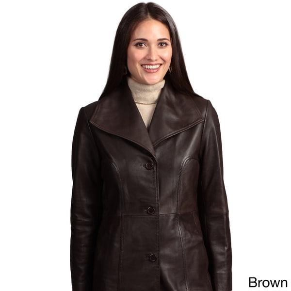Collezione Italia Women's Leather Walker Coat