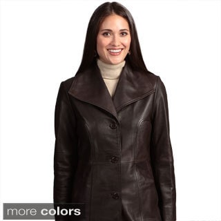 Collezione Italia Women's Leather Walker Coat