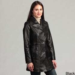 Collezione Women's Plus Leather Italia Walker Jacket