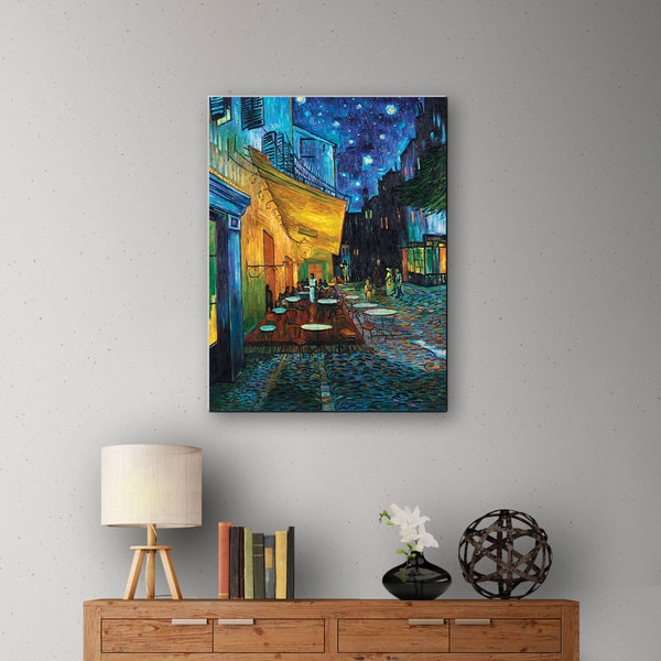 Vincent Van Gogh 'The Cafe Terrace' Gallery Wrapped Canvas (26 x 40)