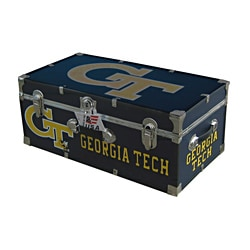 Georgia Tech 30-inch Black/Gold/White Wheeled Foot Locker Trunk