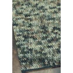 Hand-woven Gilderoy Charcoal Wool Rug (5'0 x 7'6)