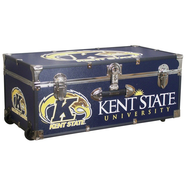 Overstock.com Kent State University 30-inch Wheeled Foot Locker Trunk at Sears.com