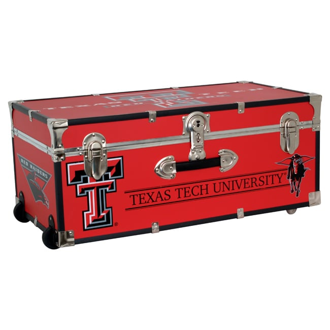 Texas Tech University 30-inch Wheeled Foot Locker Trunk