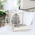 Christopher Knight Home Blue Embroidered Pillows (Set of 2)