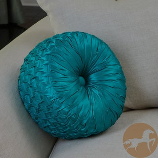 Christopher Knight Home Round 14-inch Turquoise Pillow