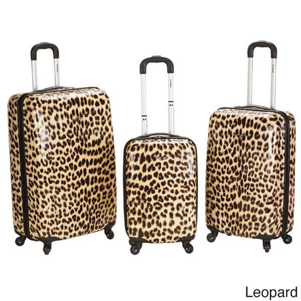 Rockland Designer 3-piece Lightweight Hardside Spinner Luggage Set