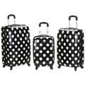 Rockland Designer Black Dot 3-piece Lightweight Hardside Spinner Luggage Set