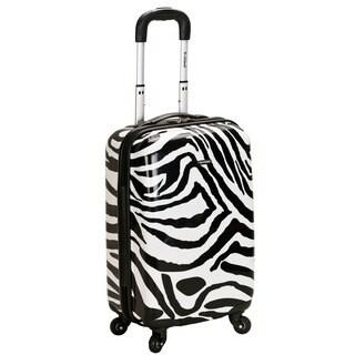 Rockland Designer Zebra 20-inch Lightweight Hardside Spinner Carry-on Upright Suitcase