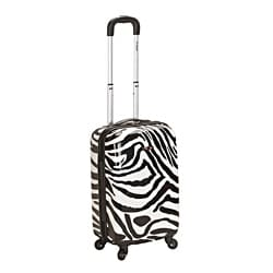 Rockland Designer Zebra 20-inch Lightweight Hardside Spinner Carry-on Upright Suitcase