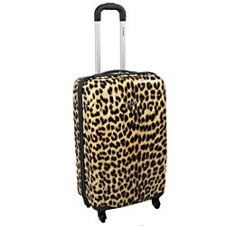 Rockland Leopard 20-inch Lightweight Hardside Spinner Carry-on Luggage