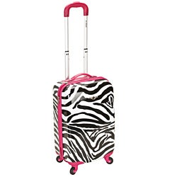 Rockland Zebra Pink 20-inch Lightweight Hardside Spinner Carry-On Luggage