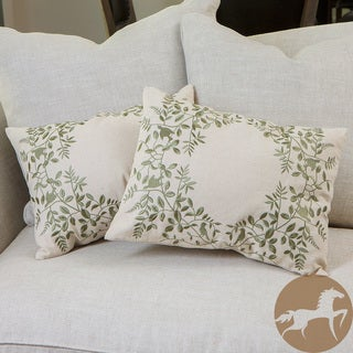 Christopher Knight Home Grey Embroidered Pillows (Set of 2)