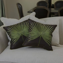 Christopher Knight Home Light Green Embroidered Pillows (Set of 2)