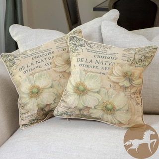 Christopher Knight Home Flower Script Pillows (Set of 2)