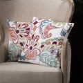 Christopher Knight Home Embroidered Paillette Linen Blend Pillows (Set of 2)