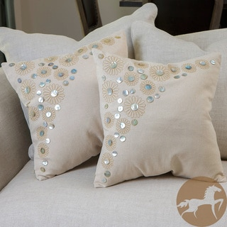 Christopher Knight Home Embroidered Paillette Pillows (Set of 2)