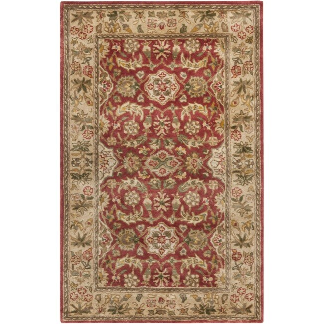 Safavieh Handmade Cotton-Backed Persian Legend Red/Ivory Wool Rug (4' x 6')