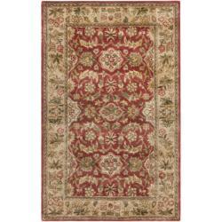 Safavieh Handmade Cotton-Backed Persian Legend Red/Ivory Wool Rug (4' x 6')