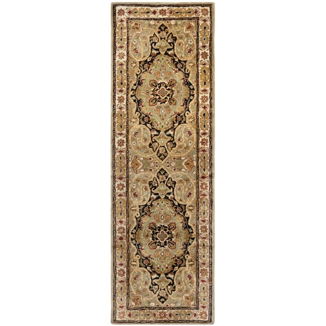 Safavieh Handmade Persian Legend Soft Green/ Ivory Wool Rug (2'6 x 12')