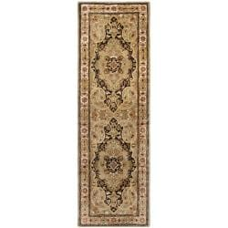 Safavieh Handmade Persian Legend Soft Green/ Ivory Wool Rug (2'6 x 8')